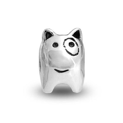 Spot Puppy Dog Pet Lover Bead Charm 925 Sterling Silver