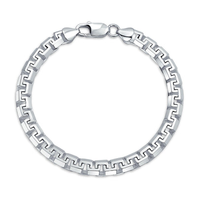 Solid Heavy Strong Franco Square Link Chain Bracelet Sterling Silver