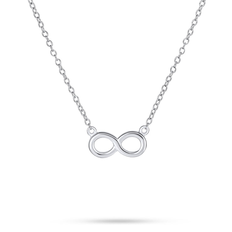 Infinity Eternal Love Pendant Figure Eight Sterling Silver Necklace