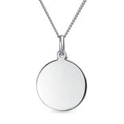 AYLLU Live The Life You Love Disc BFF Pendant Necklace Sterling Silver