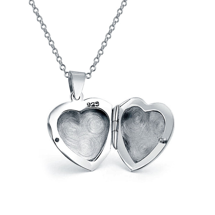Simple Plain Puff Heart Shaped Photo Lockets For Women That Hold