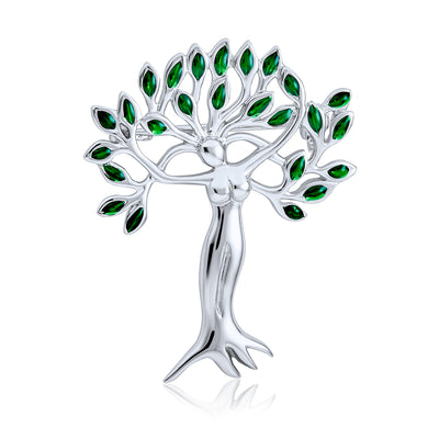 Tree Of Life Goddess Protection Of Nature Mother Earth Brooch Pin