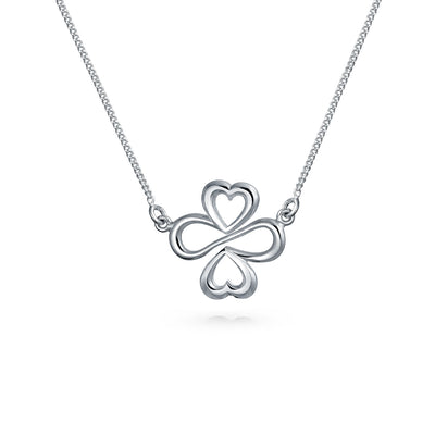 Ayllu Heart Infinity Clover Pendant Necklace For 925 Sterling Silver