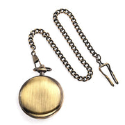 Caribbean Pirate Skull Crossbones Pocket Watch Plated Bronze Alloy