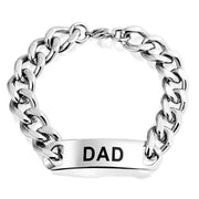 Daddy Name Plate Engrave Word Dad Identification ID Bracelet For