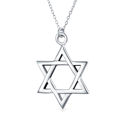 Star OF David Magen Jewish Pendant Necklace High Sterling Silver