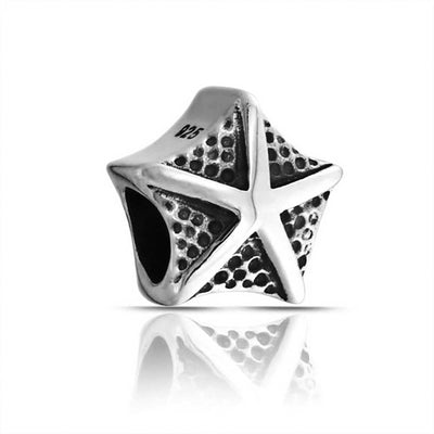 Nautical Starfish Vacation Bead Charm 925 Sterling Silver