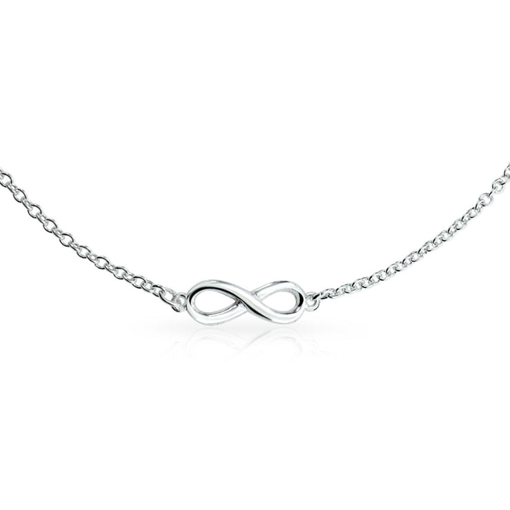 Multi Infinity Love Knot Anklet Ankle Bracelet Chain Sterling Silver