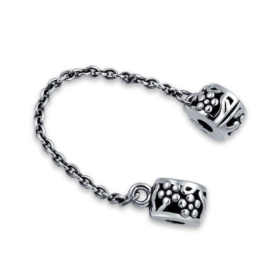Floral Daisy Chain Spacer Clasp Stopper Bead Charm 925 Sterling Silver