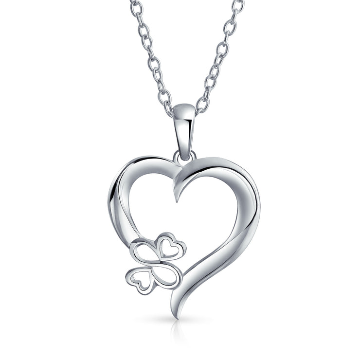 Ayllu Love Luck Unity BFF Open Heart Pendant Necklace Sterling Silver