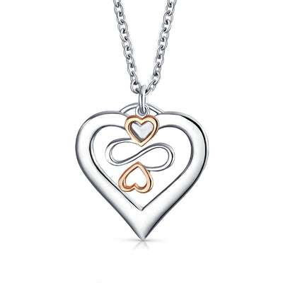 Ayllu Love Luck Unity BFF Open Heart Charm Pendant Silver Two Tone