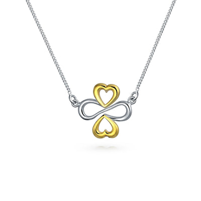 Ayllu Heart Infinity Clover Love Luck Charm Anklet Sterling Silver