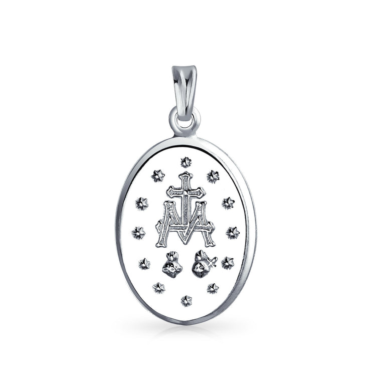 Our Lady of Guadalupe Catholic Medallion Necklace 925 Sterling Silver