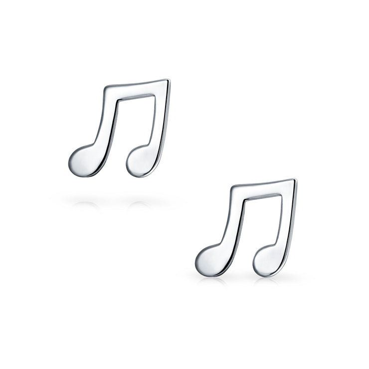 Teacher Music Notes Stud Earrings Musician Student 925 Sterling Silver