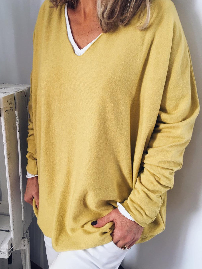 Yellow Long Sleeve Casual Shirt