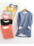 Fleece-Blend Round Neck Solid Long Sweatshirts