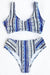 Face The Sea Print Bikini Set