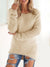Womens Low Crew Neck Plush Sweater Dress With Multi-color