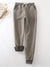 Deep gray Casual Elastic Solid Casual Warm Pants