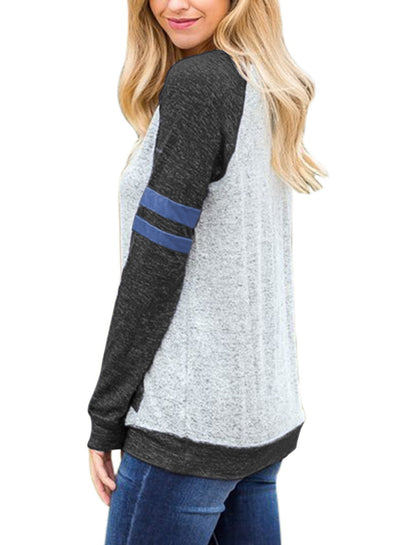 Contrast Stripes Sweatshirt