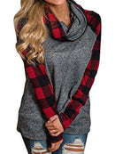 Cowl Sweatshirt Tunic Top