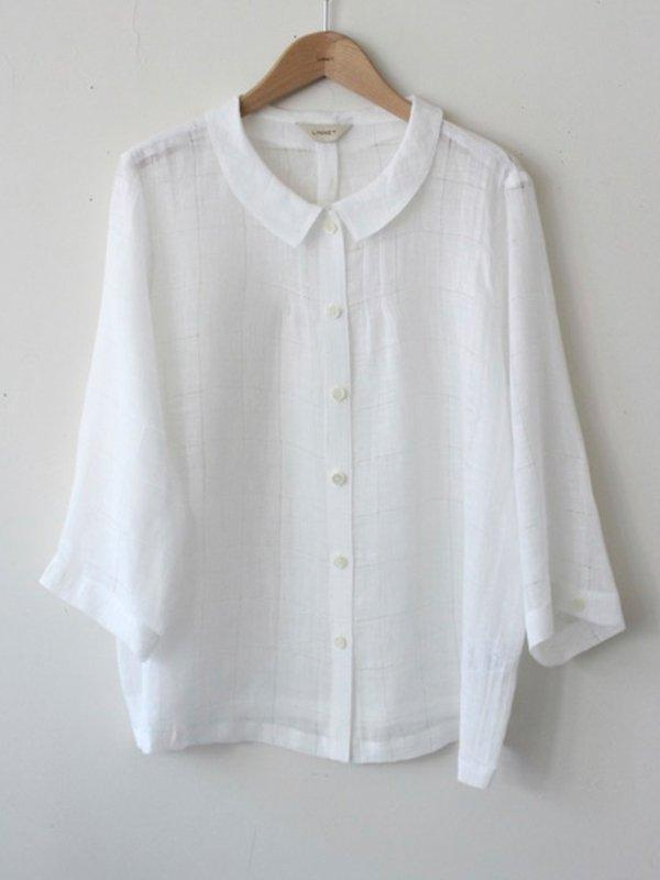 Round Neck 3/4 Sleeve Blouse