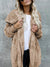 Hoodie Casual Batwing Reversible Shift Fluffy Teddy Bear Coats