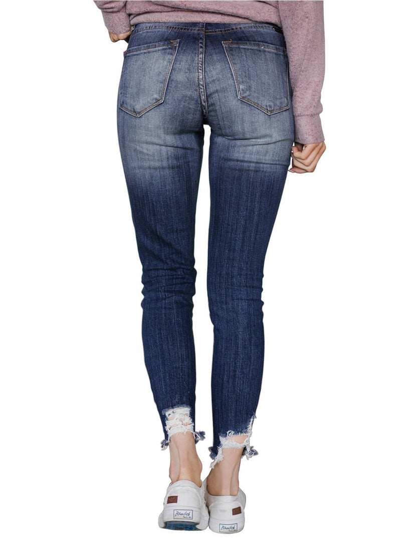 Washed Distressed Denim Jeans