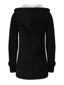Casual Long Sleeve Solid Buttoned Zipper Pockets Coat