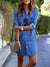 Women'sFashion Summer Dress Plus Size Buttoned Denim Mini Shirtdress