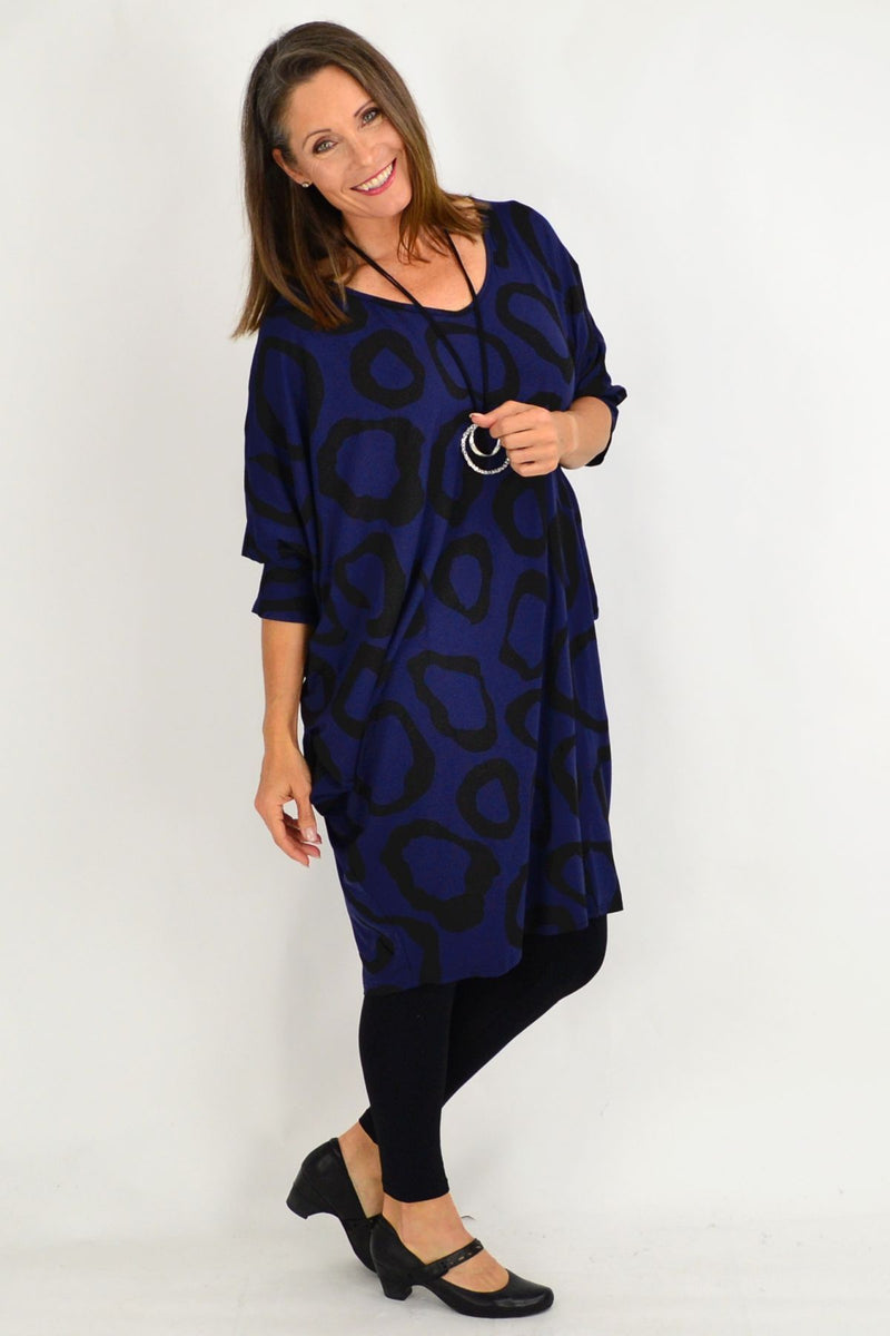 Navy Blue Nova Relaxed Tunic