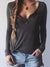 Women V Neck Long Sleeve Top
