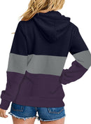 Ladies Striped Multicolor Hoodies