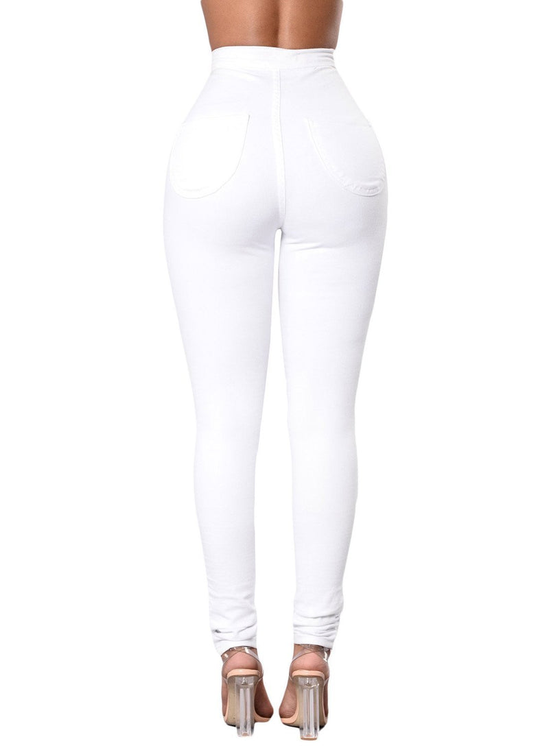 Sexy High Waisted Skinny Jeans (LC786041-1-2)