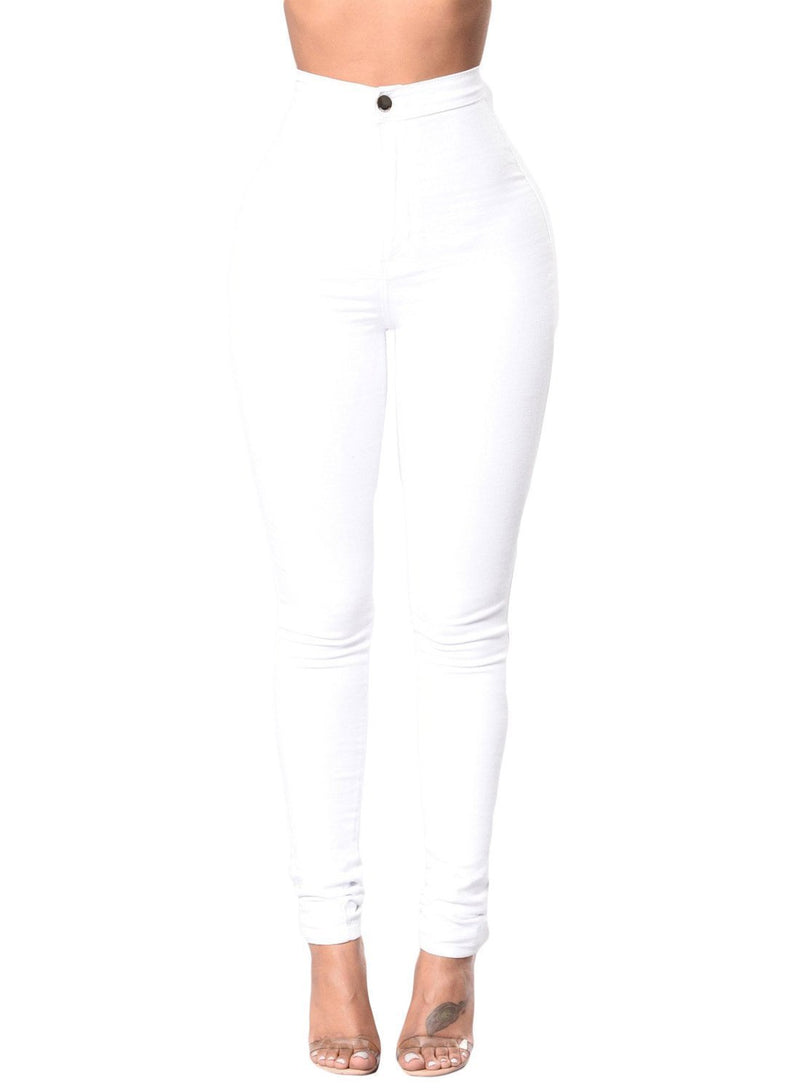 Sexy High Waisted Skinny Jeans (LC786041-1-1)