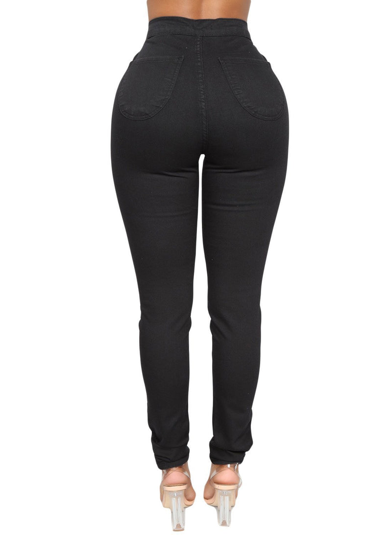 Sexy High Waisted Skinny Jeans (LC786041-2-2)