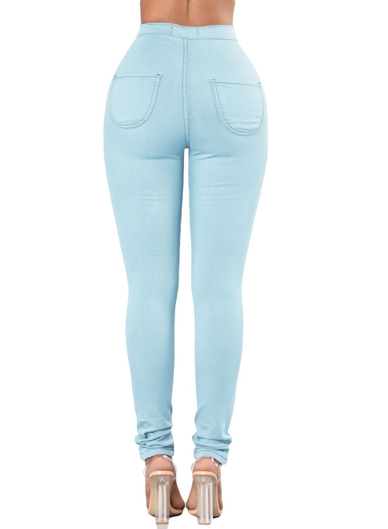 Sexy High Waisted Skinny Jeans (LC786041-4-2)