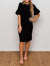 Ruffle Sleeve Column Dress