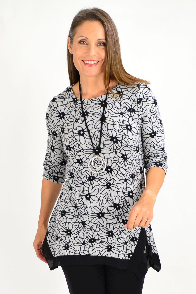 Flowers in July Tunics Top