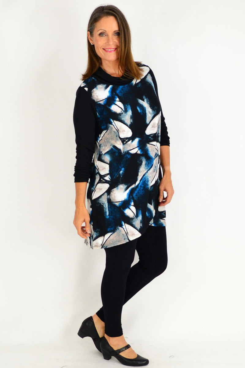 Blue Jasmine Abstract Tunic | I Love Tunics | Tunic Tops | Tunic Dresses | Women's Tops | Plus Size Australia | Mature Fashion