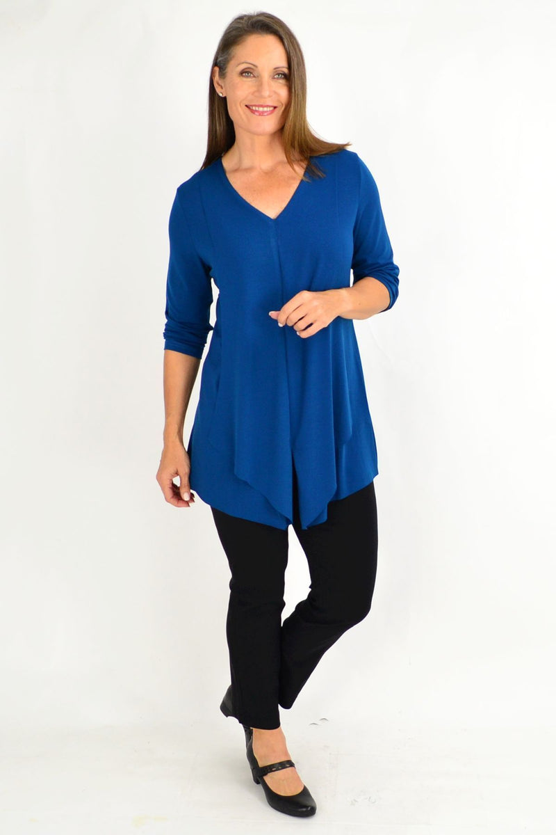 Teal Mia Stretch Tunic Top