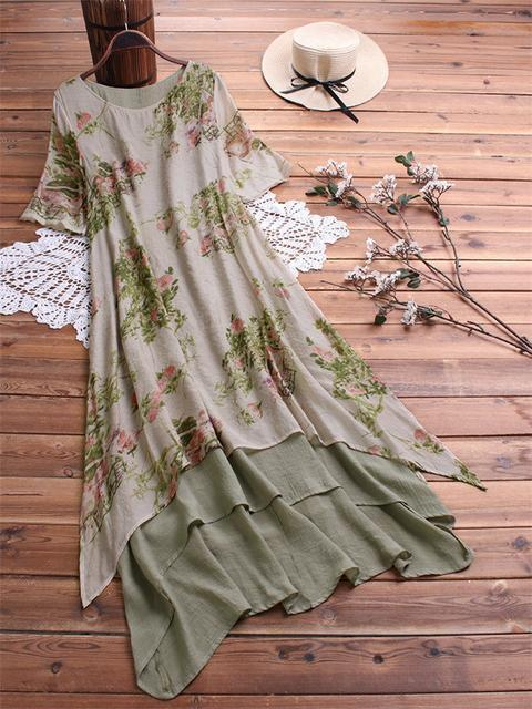 double-layered-floral-print-maxi-dress