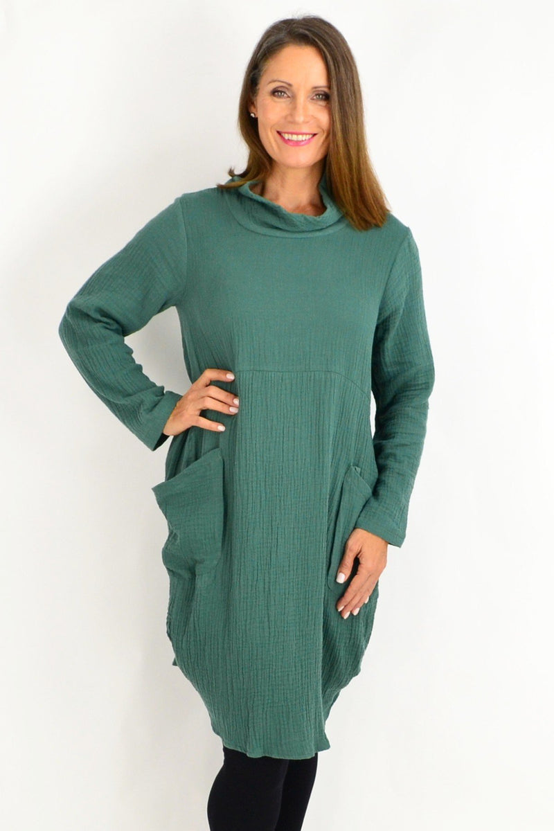 Teal Green Cotton Tunic