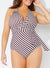 RUNWAY FAUX WRAP HALTER ONE PIECE SWIMSUIT