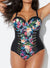 YIN CUT OUT MESH UNDERWIRE ONE PIECE SWIMSUIT