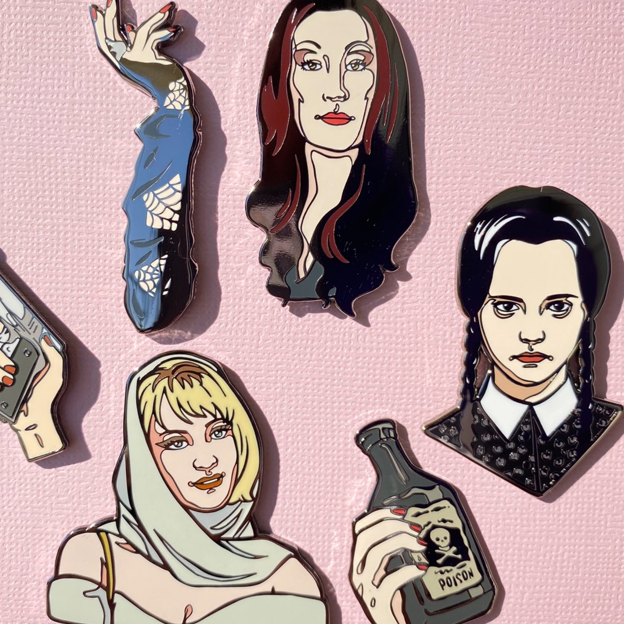 The Addams Family Enamel Pins