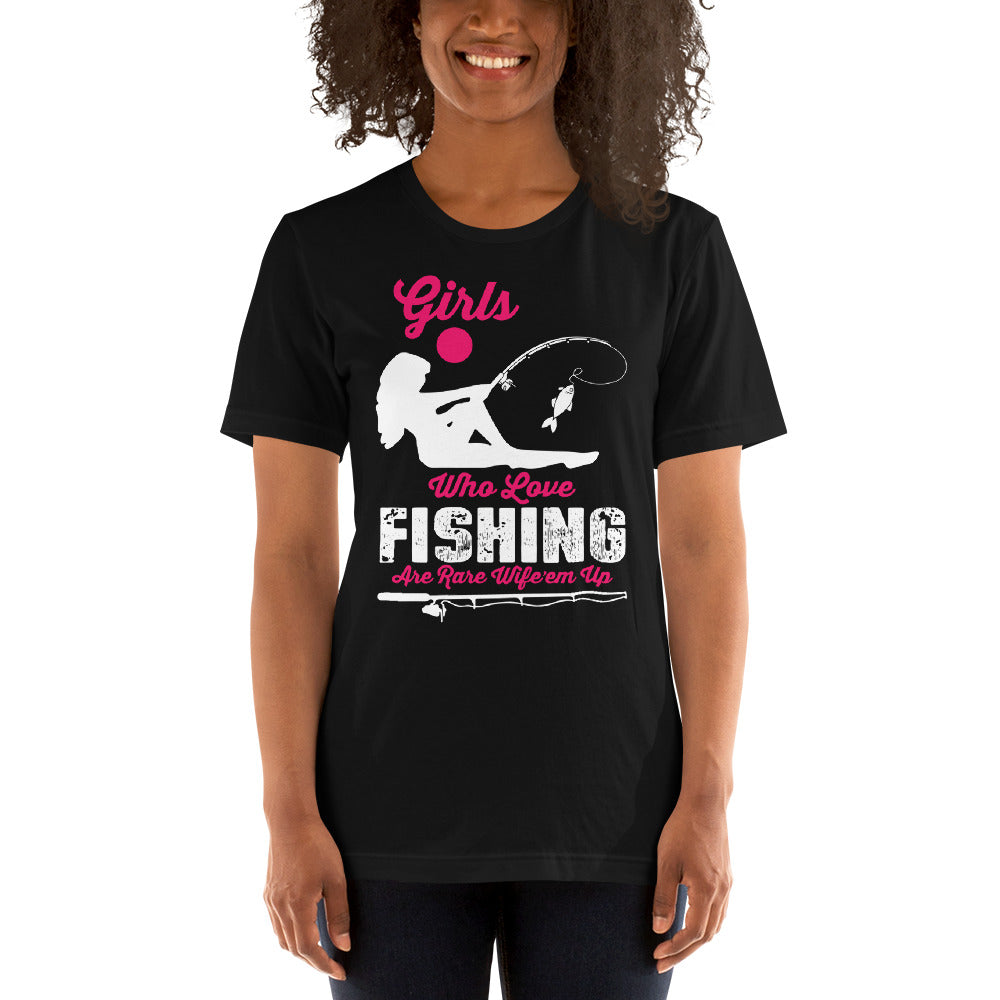 Girls who love fish are rare Short-Sleeve Unisex T-Shirt