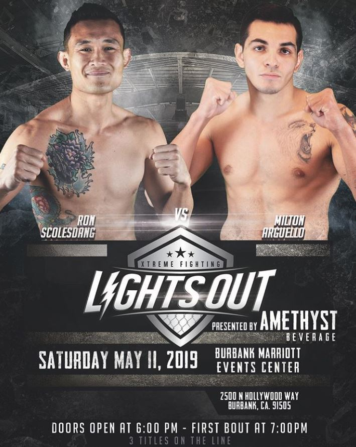 Milton Arguello vs Ron Scolesuang Lights Out Extreme Fighting Saturday May 11th