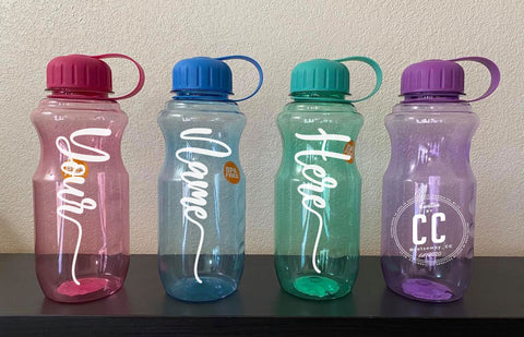 Custom Basic Necessities Clear 28oz Water Bottle
