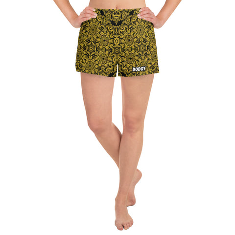 Dodgy Gold Fil Athletic Running Women's Shorts